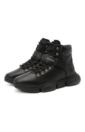 Мужские кожаные ботинки bubble boots MONCLER черного цвета, арт. F2-09A-4M500-00-02SGL | Фото 1 (Материал внутренний: Натуральная кожа; Подошва: Массивная; Материал внешний: Кожа; Мужское Кросс-КТ: Ботинки-обувь, Хайкеры-обувь)