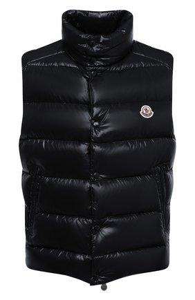 Мужской пуховый жилет tib MONCLER черного цвета, арт. F2-091-1A538-00-68950 | Фото 1 (Материал внешний: Синтетический материал; Материал подклада: Синтетический материал; Длина (верхняя одежда): Короткие; Мужское Кросс-КТ: Верхняя одежда; Стили: Спорт-шик; Кросс-КТ: Пуховик, Куртка)