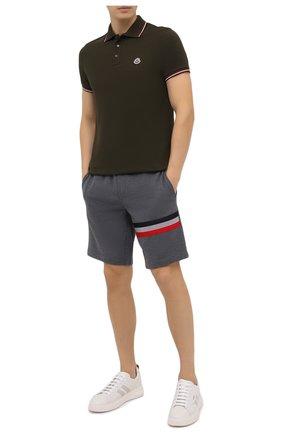 Мужское хлопковое поло MONCLER хаки цвета, арт. F2-091-8A703-00-84556 | Фото 2