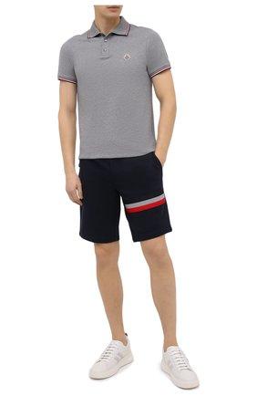 Мужское хлопковое поло MONCLER серого цвета, арт. F2-091-8A703-00-84556 | Фото 2