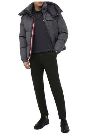 Мужское хлопковое поло MONCLER темно-серого цвета, арт. F2-091-8A711-00-84556 | Фото 2
