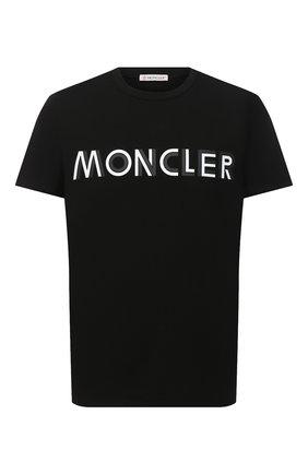 Мужская хлопковая футболка MONCLER черного цвета, арт. F2-091-8C759-10-8390T | Фото 1