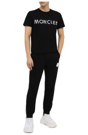 Мужская хлопковая футболка MONCLER черного цвета, арт. F2-091-8C759-10-8390T | Фото 2