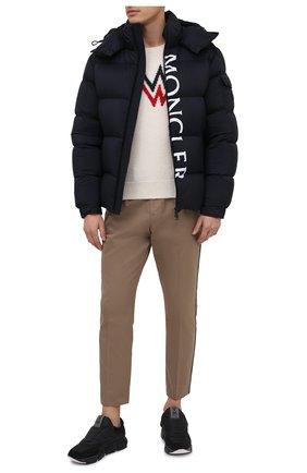 Мужская пуховая куртка maures MONCLER темно-синего цвета, арт. F2-091-1B544-10-53333 | Фото 2