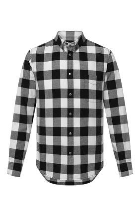 Мужская хлопковая рубашка MONCLER черно-белого цвета, арт. F2-091-2F702-60-54ACK | Фото 1