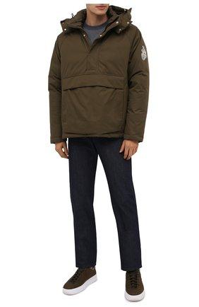 Мужской хлопковый свитшот MONCLER серого цвета, арт. F2-091-8G747-20-80985 | Фото 2 (Материал внешний: Хлопок; Длина (для топов): Стандартные; Рукава: Длинные; Принт: С принтом; Мужское Кросс-КТ: свитшот-одежда; Стили: Кэжуэл)