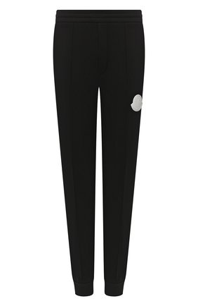 Мужские хлопковые джоггеры MONCLER черного цвета, арт. F2-091-8H715-00-V8174   Фото 1