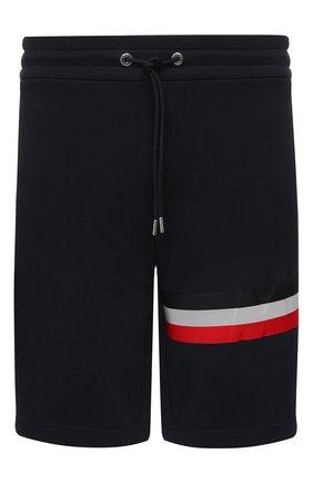 Мужские хлопковые шорты MONCLER темно-синего цвета, арт. F2-091-8H716-10-80985 | Фото 1