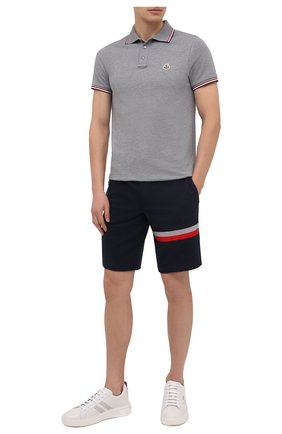 Мужские хлопковые шорты MONCLER темно-синего цвета, арт. F2-091-8H716-10-80985 | Фото 2