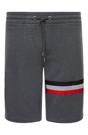 Мужские хлопковые шорты MONCLER серого цвета, арт. F2-091-8H716-10-80985 | Фото 1