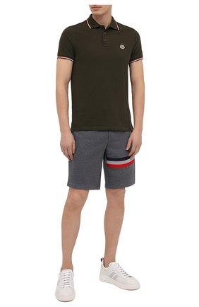 Мужские хлопковые шорты MONCLER серого цвета, арт. F2-091-8H716-10-80985 | Фото 2