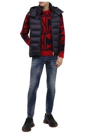 Мужской шерстяной свитер MONCLER красного цвета, арт. F2-091-9C738-50-A9379 | Фото 2