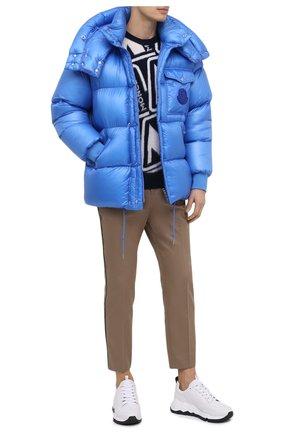 Мужской шерстяной свитер MONCLER синего цвета, арт. F2-091-9C738-50-A9379 | Фото 2