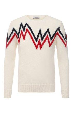 Мужской свитер MONCLER белого цвета, арт. F2-091-9C750-00-A9498 | Фото 1