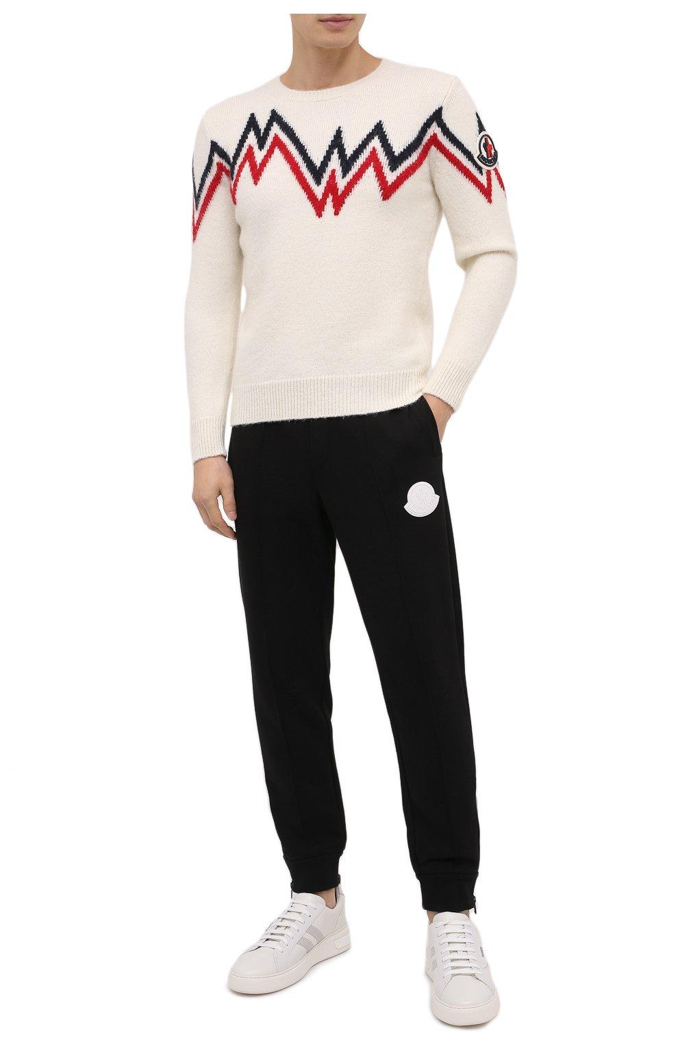 Мужской свитер MONCLER белого цвета, арт. F2-091-9C750-00-A9498   Фото 2