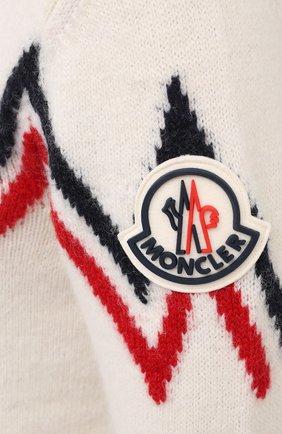 Мужской свитер MONCLER белого цвета, арт. F2-091-9C750-00-A9498   Фото 5
