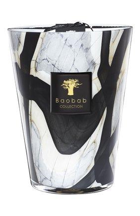 Свеча stones max 24 marble BAOBAB бесцветного цвета, арт. 5415198125056   Фото 1 (Ограничения доставки: flammable)