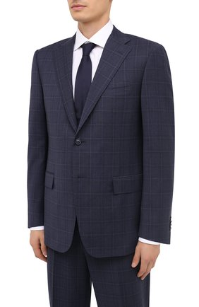 Мужской шерстяной костюм CORNELIANI темно-синего цвета, арт. 867315-0817248/92 Q1 | Фото 2