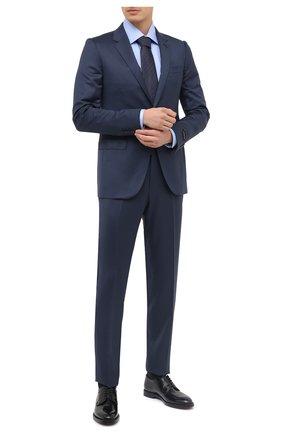 Мужской костюм из шерсти и шелка ERMENEGILDO ZEGNA синего цвета, арт. 816608/21CXA7 | Фото 1