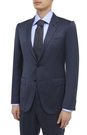 Мужской костюм из шерсти и шелка ERMENEGILDO ZEGNA синего цвета, арт. 816608/21CXA7 | Фото 2