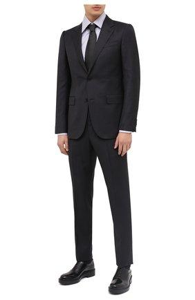 Мужской шерстяной костюм ERMENEGILDO ZEGNA темно-серого цвета, арт. 822078/221225 | Фото 1