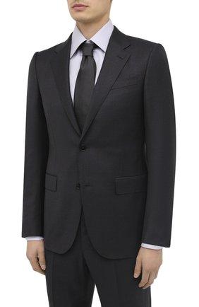 Мужской шерстяной костюм ERMENEGILDO ZEGNA темно-серого цвета, арт. 822078/221225 | Фото 2