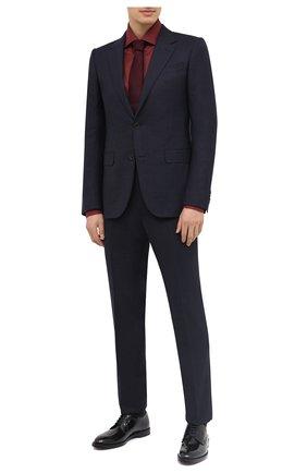 Мужской шерстяной костюм ERMENEGILDO ZEGNA темно-синего цвета, арт. 822578/221225 | Фото 1