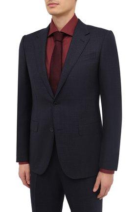 Мужской шерстяной костюм ERMENEGILDO ZEGNA темно-синего цвета, арт. 822578/221225 | Фото 2
