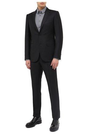 Мужской шерстяной костюм ERMENEGILDO ZEGNA черного цвета, арт. 822677/221225 | Фото 1