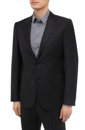 Мужской шерстяной костюм ERMENEGILDO ZEGNA черного цвета, арт. 822677/221225 | Фото 2