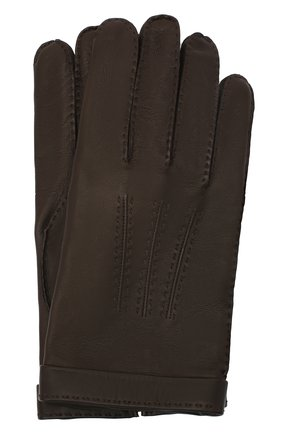 Мужские кожаные перчатки CORTIGIANI коричневого цвета, арт. 911155/0000 | Фото 1