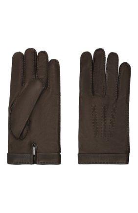 Мужские кожаные перчатки CORTIGIANI коричневого цвета, арт. 911155/0000 | Фото 2