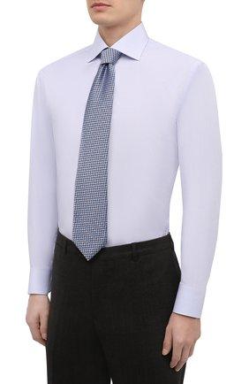Мужская хлопковая сорочка BRIONI голубого цвета, арт. RCA10M/P90B7   Фото 4