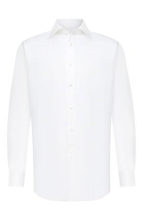 Мужская хлопковая сорочка BRIONI белого цвета, арт. RCA10L/P90C4 | Фото 1