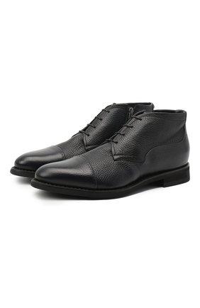Мужские кожаные ботинки BARRETT темно-синего цвета, арт. 132U076.18/CERV0 ASP0RTABILE | Фото 1
