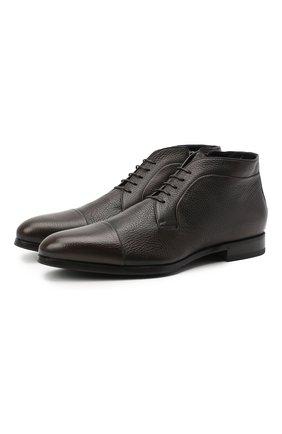 Мужские кожаные ботинки BARRETT темно-коричневого цвета, арт. B182U007.2/CERV0 ASP0RTABILE   Фото 1