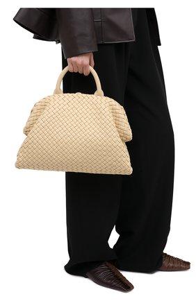 Женская сумка bv handle BOTTEGA VENETA светло-бежевого цвета, арт. 639301/V01D1 | Фото 2