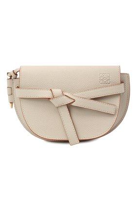 Женская сумка gate mini LOEWE светло-бежевого цвета, арт. A650N46X02 | Фото 1
