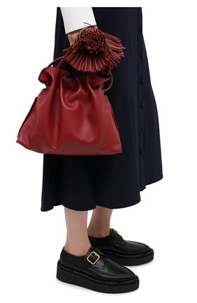 Женский клатч flamenco LOEWE бордового цвета, арт. A411FC1X17 | Фото 2