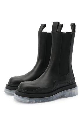 Женские кожаные ботинки bv tire BOTTEGA VENETA черного цвета, арт. 630297/VBS50 | Фото 1