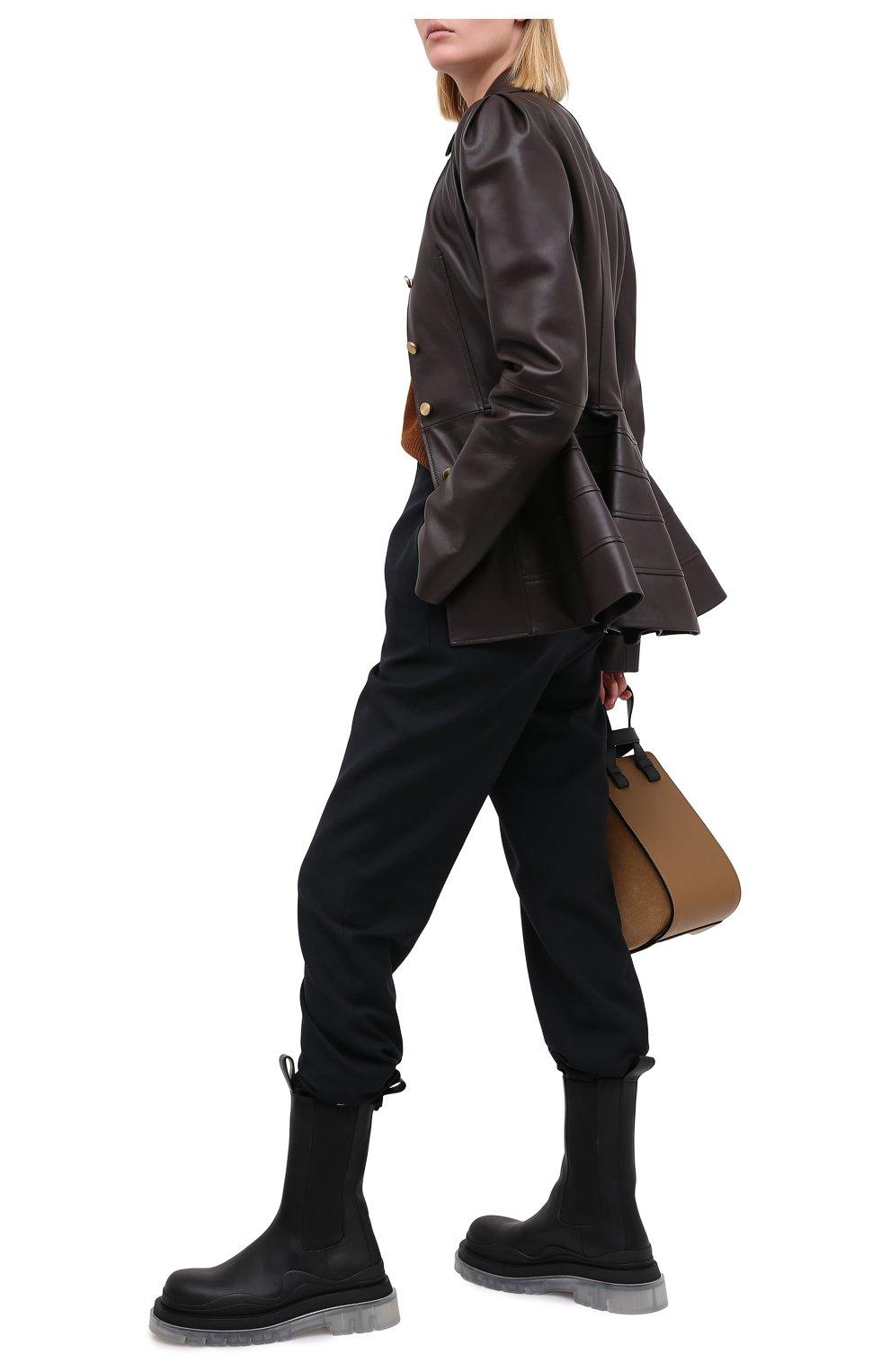 Женские кожаные ботинки bv tire BOTTEGA VENETA черного цвета, арт. 630297/VBS50 | Фото 2