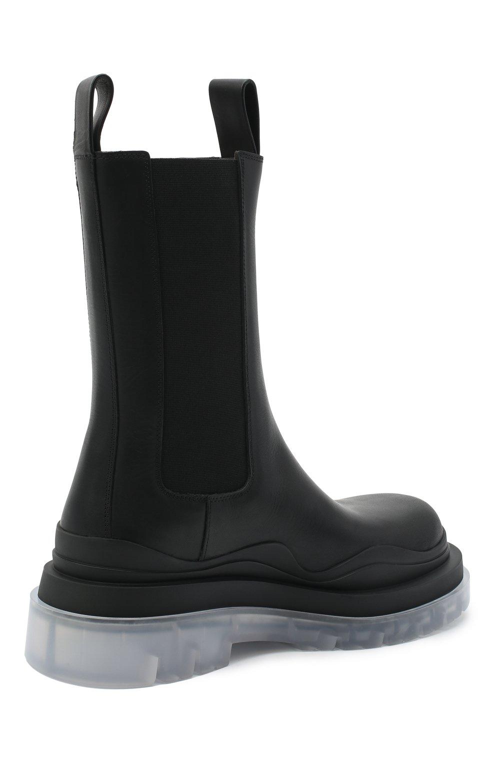 Женские кожаные ботинки bv tire BOTTEGA VENETA черного цвета, арт. 630297/VBS50 | Фото 4