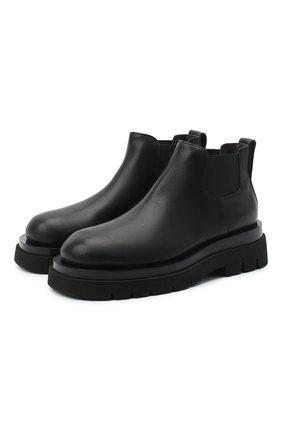 Женские кожаные ботинки bv lug BOTTEGA VENETA черного цвета, арт. 634396/VBS50 | Фото 1