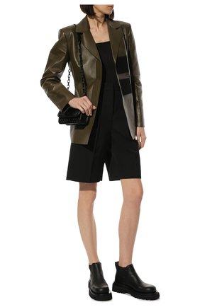 Женские кожаные ботинки bv lug BOTTEGA VENETA черного цвета, арт. 634396/VBS50 | Фото 2