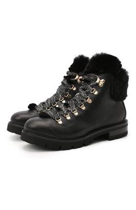 Женские кожаные ботинки AGL черного цвета, арт. D716548M0KE6841013 | Фото 1