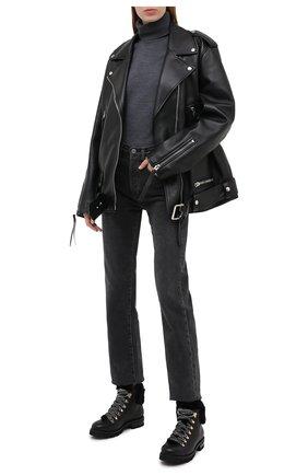 Женские кожаные ботинки AGL черного цвета, арт. D716548M0KE6841013 | Фото 2