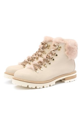 Женские кожаные ботинки AGL бежевого цвета, арт. D716548M0KE6849730 | Фото 1