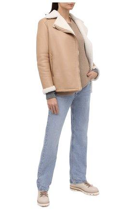 Женские кожаные ботинки AGL бежевого цвета, арт. D716548M0KE6849730 | Фото 2