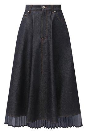 Женская джинсовая юбка LOEWE темно-синего цвета, арт. S359344XAY | Фото 1