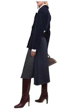 Женская джинсовая юбка LOEWE темно-синего цвета, арт. S359344XAY | Фото 2